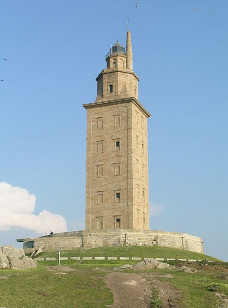 Torre de Hercules. One of the last Romanic construction pieces that still works.
